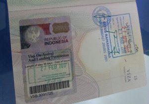 víza při příjezdu na Bali
