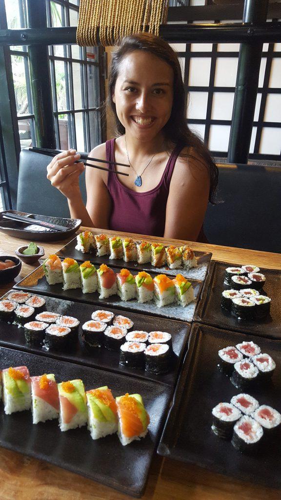 Sushi je jedna z milionu mých slabostí