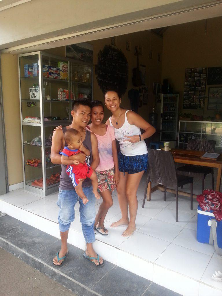 Já s mladou rodinou ze Sumbawy